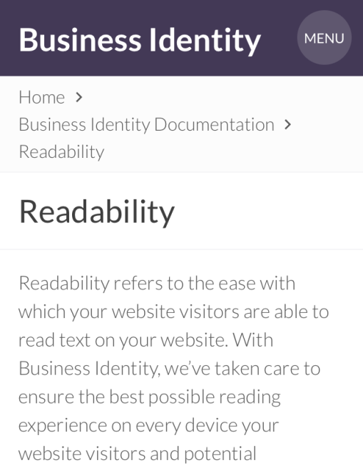 Mobile Portrait Mode: Readability