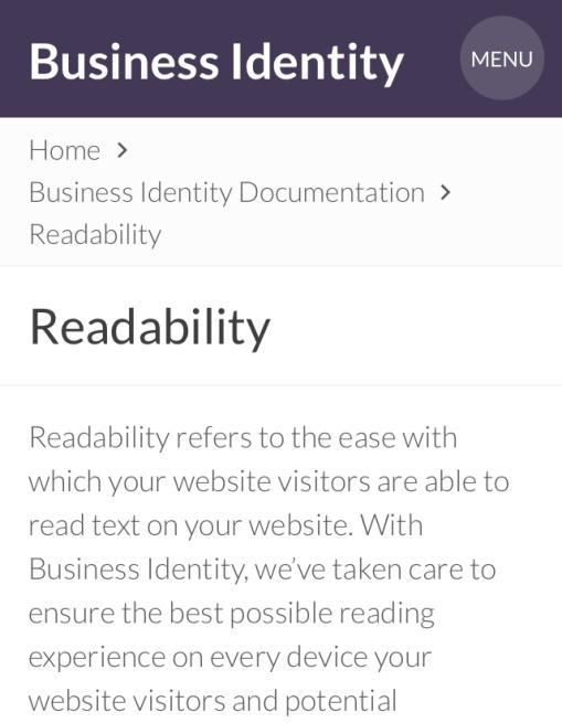 Mobile Portrait Mode: Readability